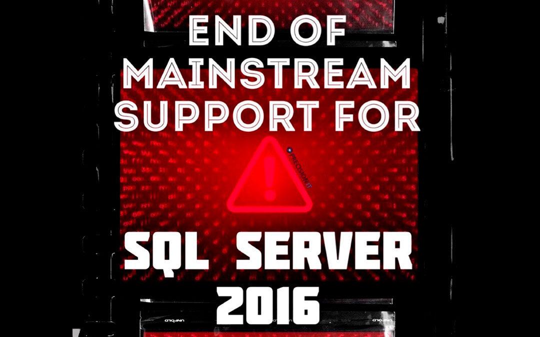 End of Support SQL SERVER 2016 | SQL alert